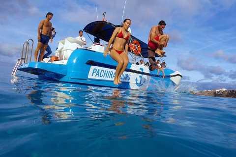 Menorca: boottocht van 3 uur bij zonsondergang met snorkelen