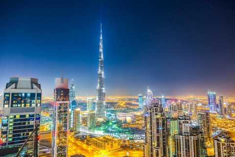 Dubai bei Nacht mit Ticket für den Burj Khalifa