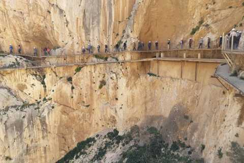 From Malaga or Costa del Sol: Caminito del Rey with Wine