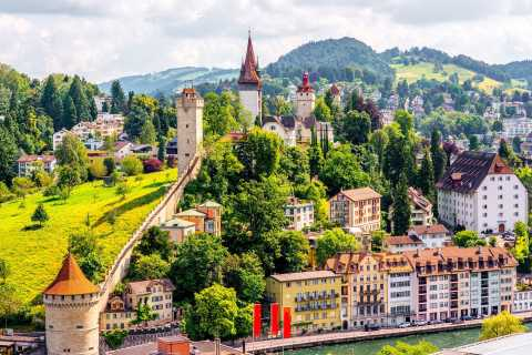Private Trip from Zurich to Mount Rigi via Lucerne City
