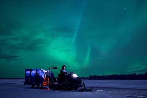 De Rovaniemi: excursão Northern Lights de Snowtrain