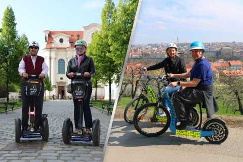 Prague: Private Gorgeous Combo Segway & eScooter City Tour