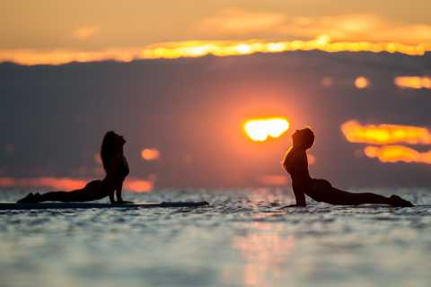 Medulin: Sunset Paddleboard Yoga Class