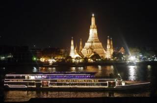 Bangkok: 2-stündige Chaophraya-Bootstour mit Abendbuffet