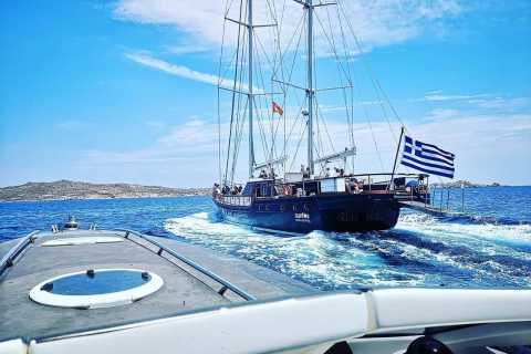Da Mykonos: crociera in yacht a Delo e Rhenia con pranzo