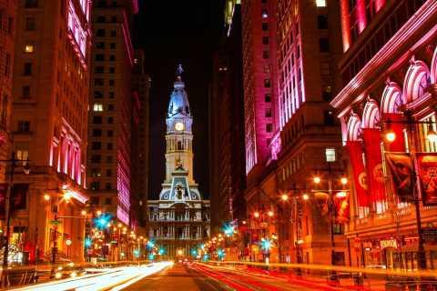 Philadelphia: Open-Top Nighttime Bus Tour