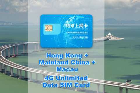 Hong Kong: 30-Day HK, China & Macau Data SIM (Google OK)