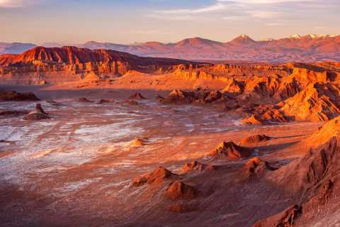 San Pedro de Atacama: Valle de la Luna bei Sonnenuntergang