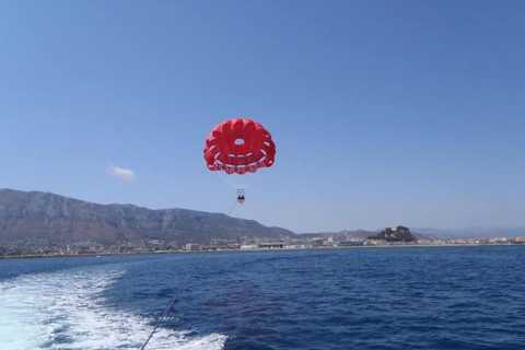 Dénia: 1.5-Hour Boat Trip and Parasailing Experience