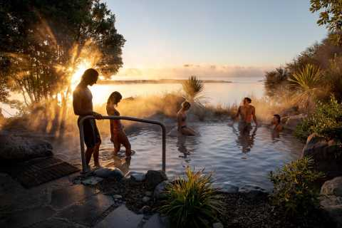 Rotorua Lake: Deluxe Lago Spa Geotérmica Hot Spring Banhos