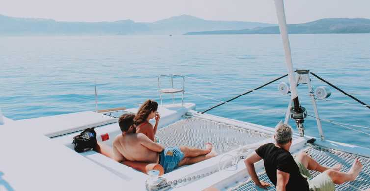 Santorini: Morning or Sunset Cruise with Food & Drinks
