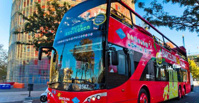 Barcelona: Hop-On Hop-Off Bus & Aquarium Tour