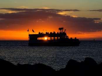 Clearwater: Bootsfahrt bei Sonnenuntergang