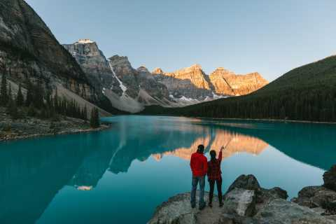 From Banff: Mountain Lakes and Waterfalls Full-Day Tour