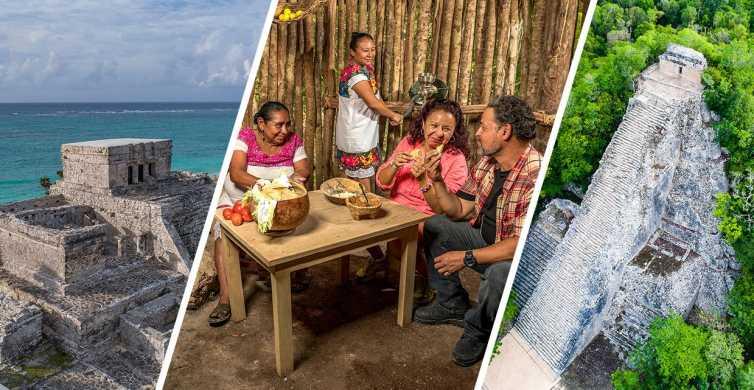 Tulum y Coba: Tour de día completo en el pueblo maya