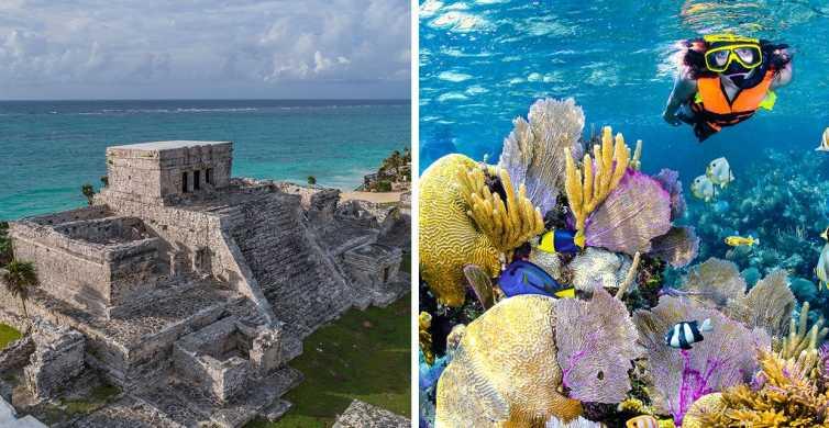Tulum: Guided Ruins Tour & Snorkeling in Puerto Morelos Park
