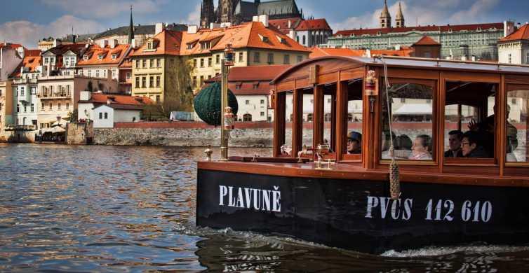 Prag: 45-minutters historisk flodkrydstogt og forfriskninger