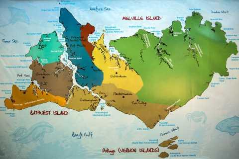 Darwinista: Tiwi -saarten aboriginaalien kulttuurikierros lounaalla