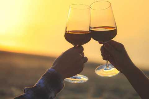 D'Albufeira: excursion de dégustation de vin au coucher du soleil avec dîner