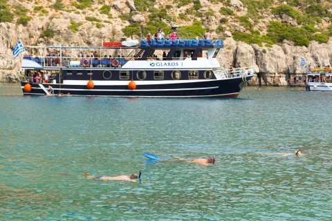 Città di Rodi: crociera panoramica a Lindos con soste di nuoto