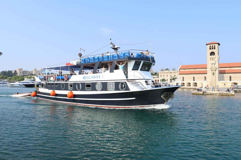 Rhodes Town: Szenische Kreuzfahrt nach Lindos mit Schwimmstopps