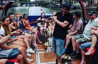 Amsterdam: 420-Bootstour mit Smoking-Lounge