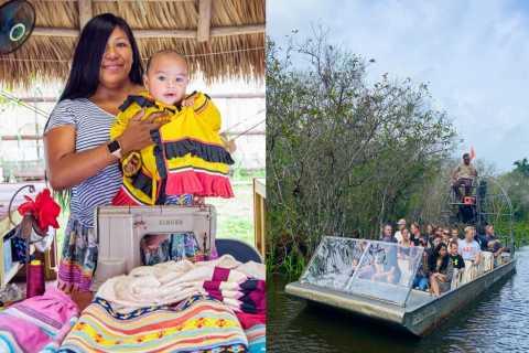 Miami Beach: Miccosukee Village & Everglades Airboat Tour