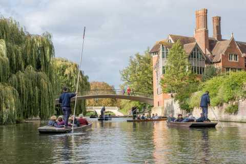 Cambridge: University Punting and Walking Tour