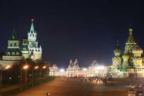 Moscou: visite à pied nocturne