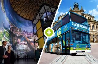Dresden: 1-tägiger Hop-On-Hop-Off-Bus, Panometereintritt & mehr