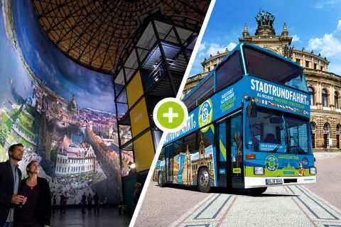 Dresden: 1-Day Hop-On-Hop-Off Bus, Panometer Entry & More