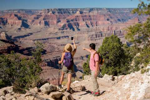 From Tusayan: Hermits Rest Hike & Jeep Tour of Grand Canyon