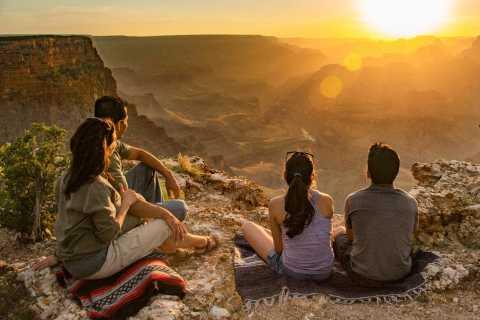 From Tusayan: Grand Canyon Desert View Sunset Tour