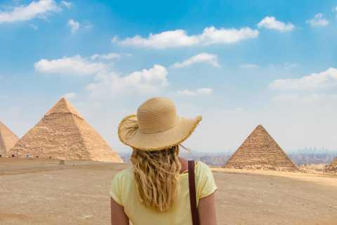 Van Caïro: tour van een halve dag naar piramides van Gizeh en de sfinx
