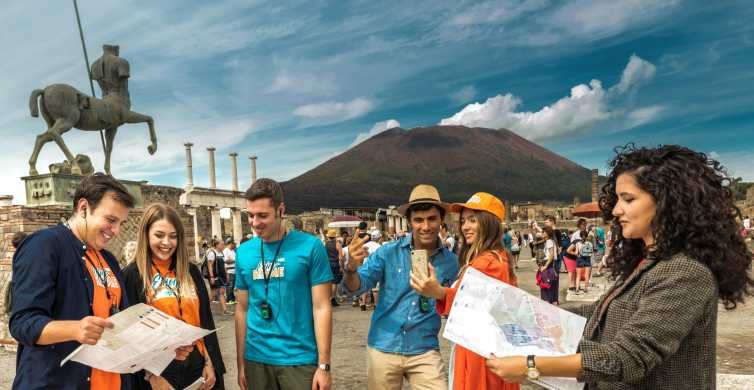 From Rome: Round-trip Shuttle to Pompeii with Optional Guide
