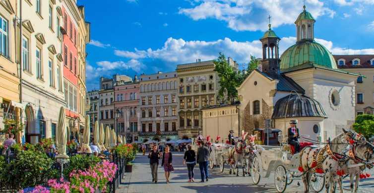 De Varsovie: visite privée guidée de Cracovie avec transport