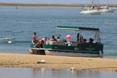 From Faro: 2-Island, 2-Stop Ria Formosa Catamaran Tour