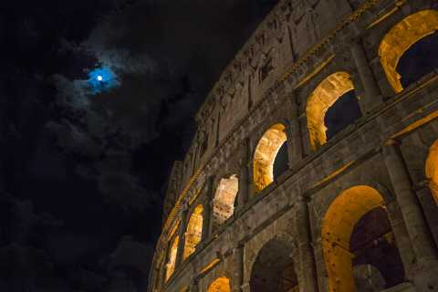 Colosseum: Underground and the Arena at Night