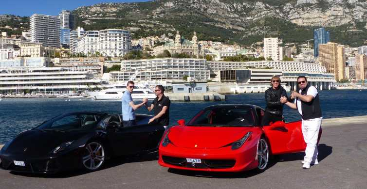 Monaco 1H Ferrari & Lamborghini tours for 2 people