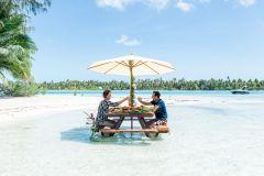 Cruzeiro privativo com snorkel na lagoa Bora Bora e piquenique com churrasco