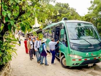 Aguas Calientes: Bustransfer zur Zitadelle Machu Picchu