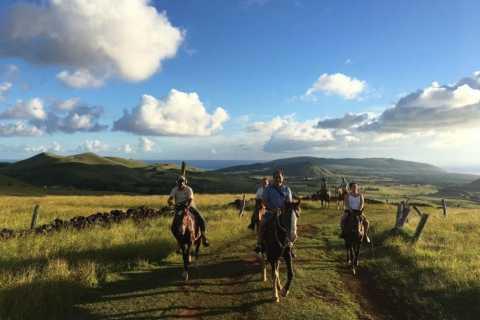 Остров Пасхи: поездка на лошадях к Маунга Теревака