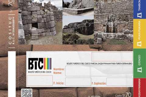 Cusco: 1, 2 oder 10-tägiges Touristenticket mit Hotelzustellung
