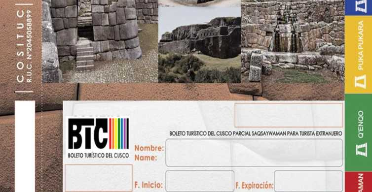 Cusco: billet touristique de 1, 2 ou 10 jours avec livraison à l'hôtel