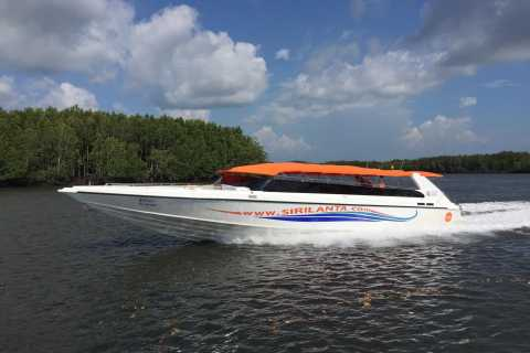 Krabi: Railay Beach To Khao Lak Speedboat & Shuttle Transfer