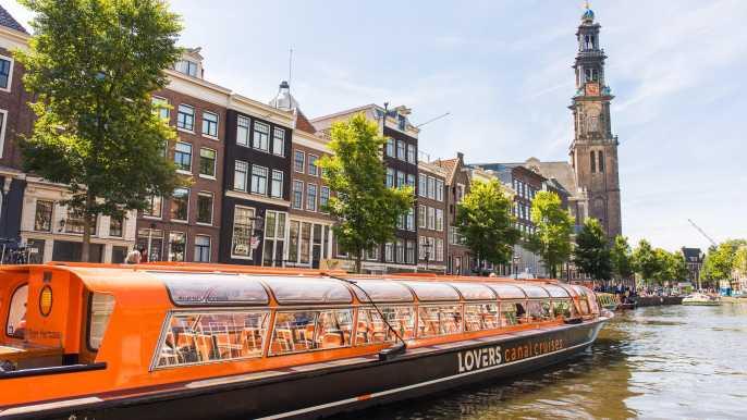 Ámsterdam: crucero de 1 hora por el canal con audioguía GPS