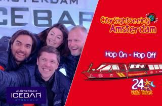 Amsterdam: Hop-On/Hop-Off-Bootsfahrt und XtraColde Icebar