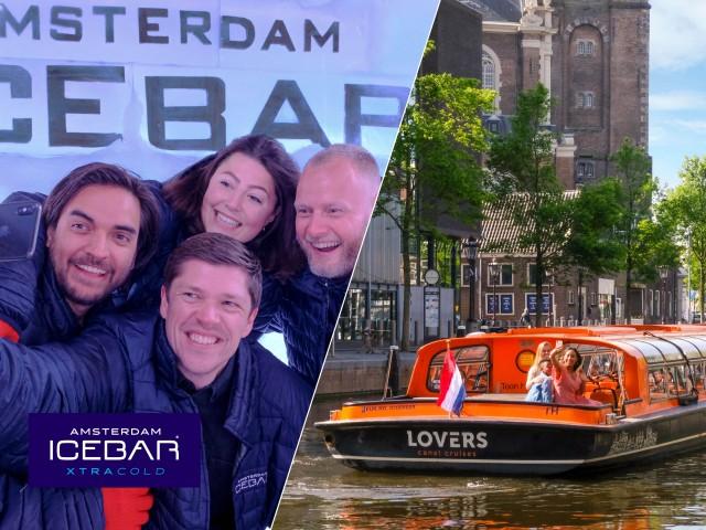 Amsterdam: rondvaart en toegang Xtracold Icebar