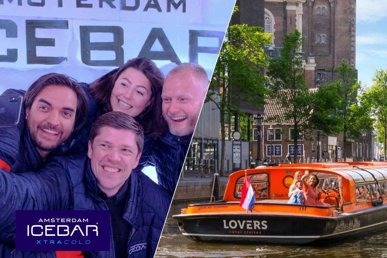 Amsterdam: Grachtenfahrt & Eintritt für die Eisbar Xtracold
