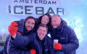 Cocktails at Amsterdam's Icebar